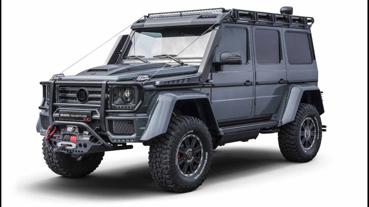 brabus adventure 4x4 proves the old mercedes g class is still mean. Black Bedroom Furniture Sets. Home Design Ideas