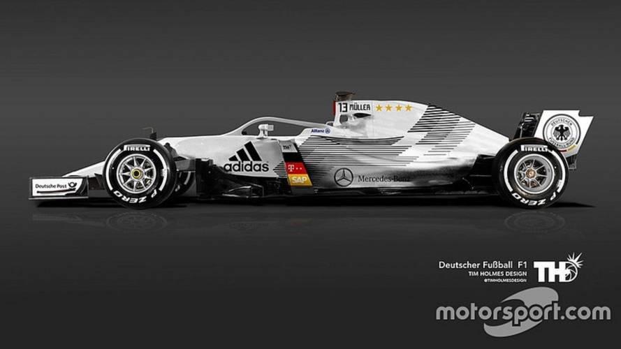 Como seriam os carros das seleções da Copa do Mundo na Fórmula 1