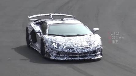 Spy Shots Listen To The Lamborghini Aventador SVJ In Action On The U0027Ring