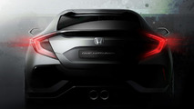 Honda Civic hatchback prototype teaser