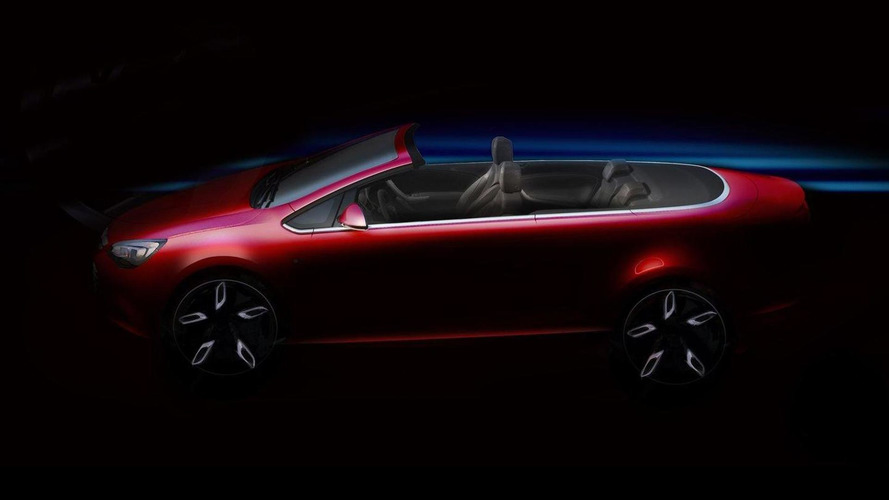 2013 Opel Astra Cabriolet first spy photos - teaser sketch released