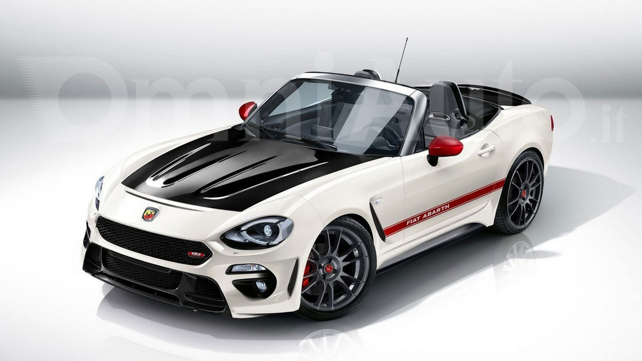 Abarth 124 Spider render