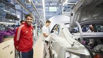 Bayern Munchen players receive their new Audi models