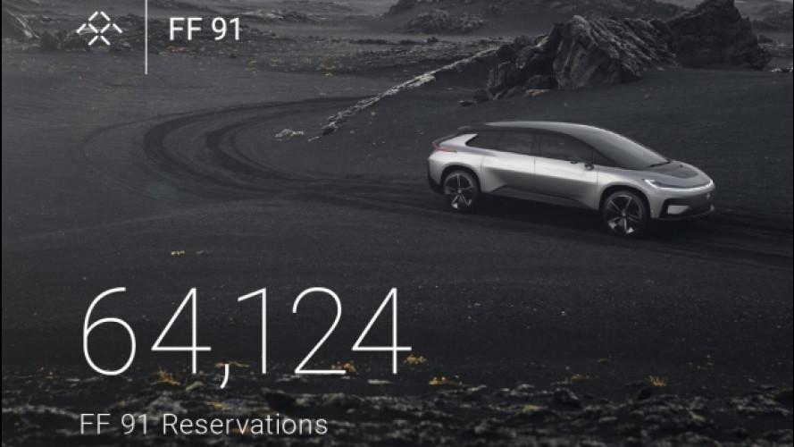 Faraday Future FF 91, già raccolti oltre 64.000 ordini