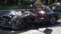 Mercedes-Benz 300SL crash during 2014 Mille Miglia