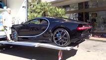 Bugatti Chiron unloaded at Monaco dealer
