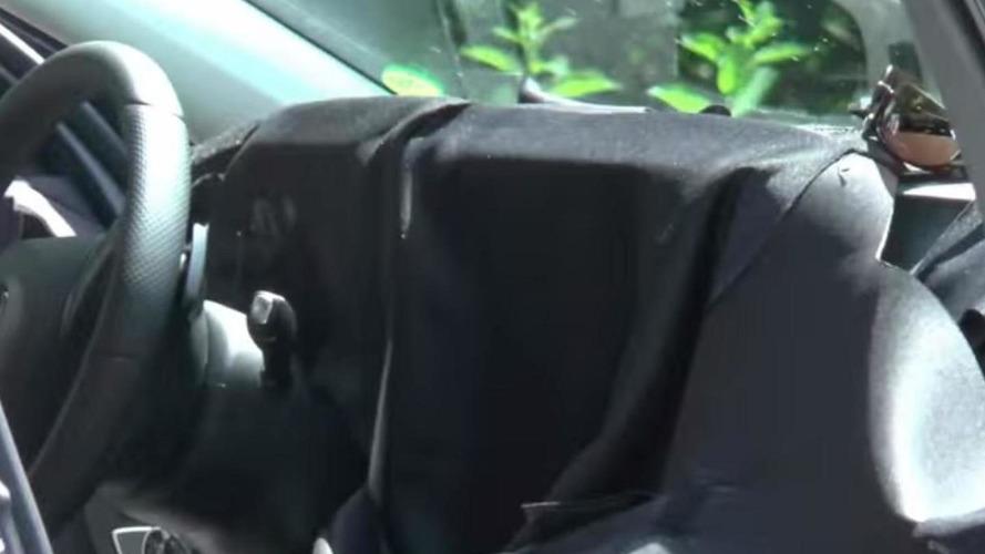 2016 Mercedes-Benz E-Class spied with the door open hiding interior cabin