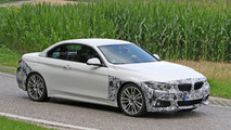 BMW 4-Series Convertible facelift spy photos