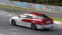Lexus GS F spied undergoing testing near and on the Nurburgring