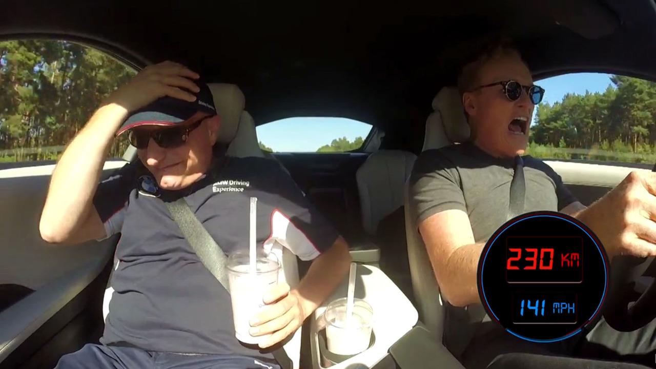 Conan O'Brien in BMW i8