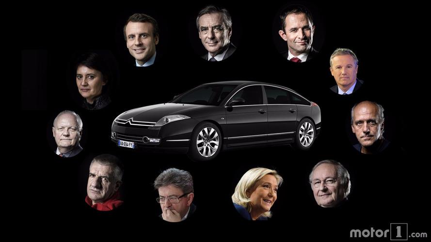 Présidentielle 2017 - Les voitures des candidats