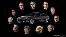 Les voitures des candidats à la présidentielle