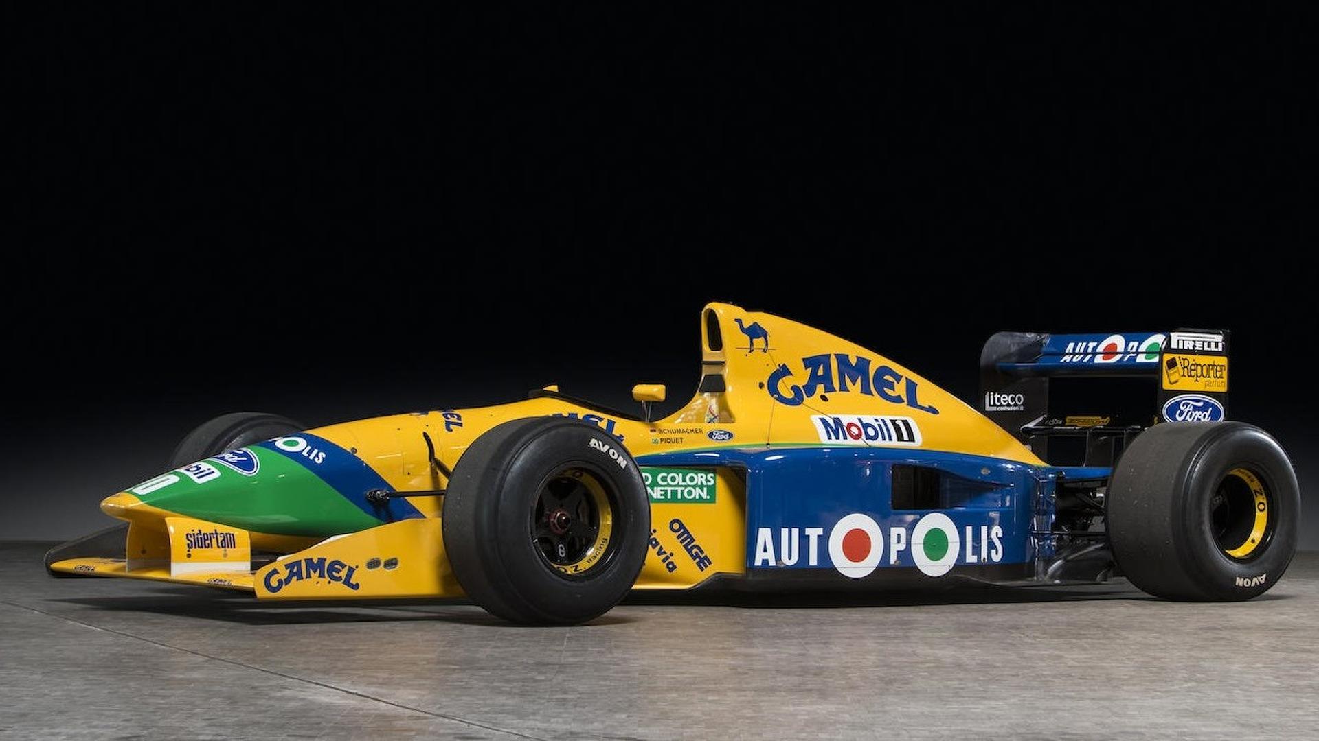 Benetton F1 Car Driven By Michael Schumacher For Sale