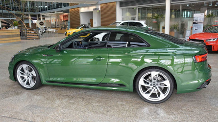Green Audi RS5 Is So Unusual They Immediately Put It In A Museum
