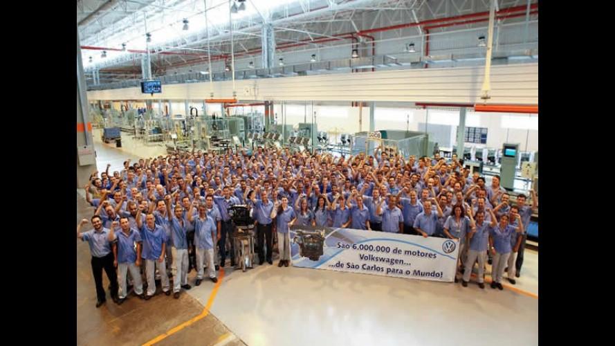 Fábrica da VW em São Carlos atinge a marca de 6 milhões de motores produzidos