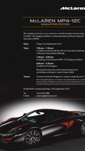 McLaren MP4-12C Fire Black Singapore Edition to be unveiled at Singapore F1 Grand Prix