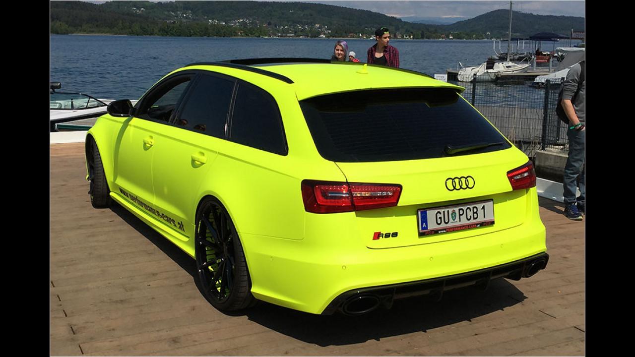 Noch unauffälliger: Dieser Audi RS 6. Genauso böse wie er aussieht, klingt er auch