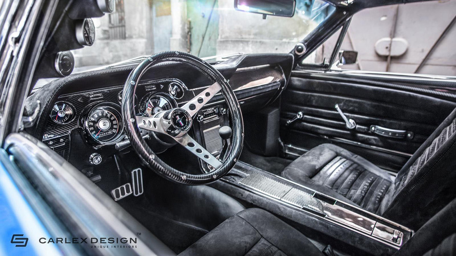 1967 ford mustang gets a modern interior by carlex design. Black Bedroom Furniture Sets. Home Design Ideas