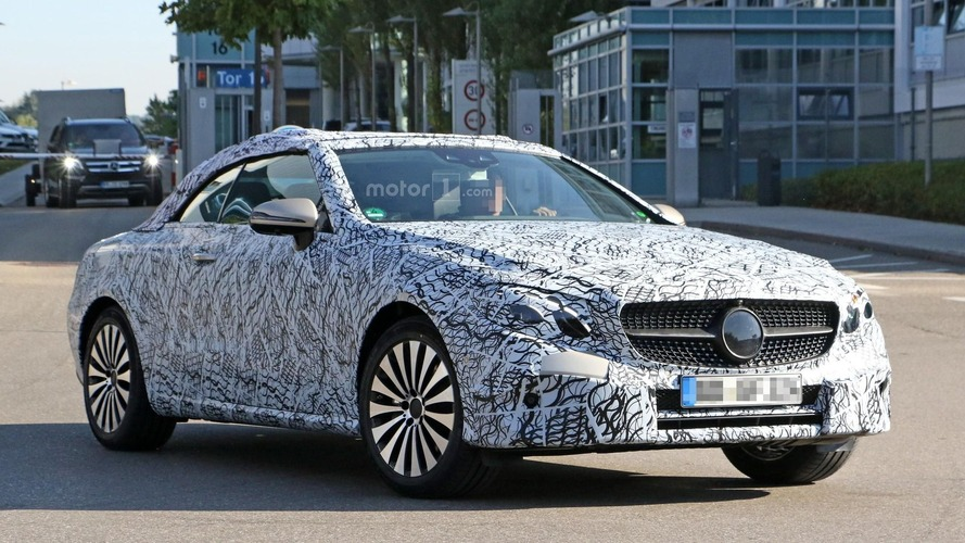 New Mercedes E-Class Cabriolet hides design under psychedelic wrap