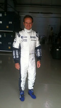 Rubens Barrichello wearing official Williams 2010 race suit