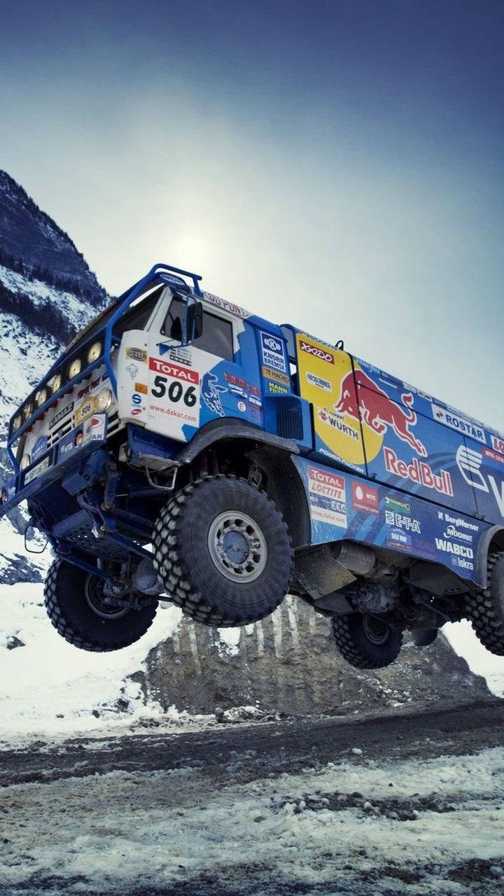 Red Bull truck, Rallye Dakar 2009, KAMAZ Master, 26.02.2009, Stonepit, Tenneck, Austria
