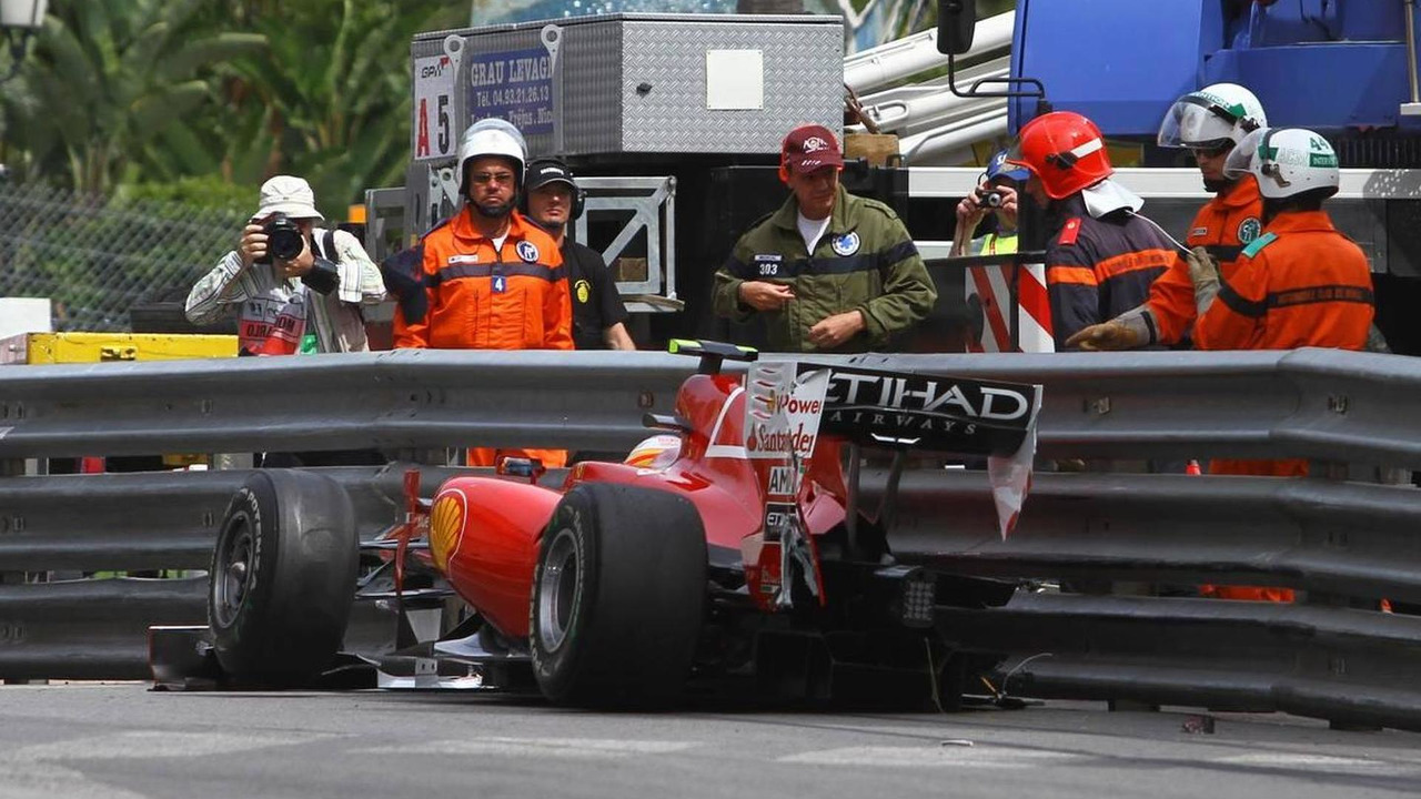 Fernando Alonso (ESP), Scuderia Ferrari crashed, Monaco Grand Prix, 15.05.2010 Monaco, Monte Carlo