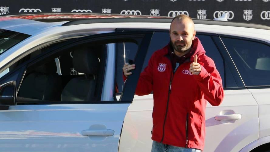 La plantilla 2017/2018 del Barcelona ya disfruta de sus Audi