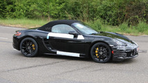 Latest Porsche Boxster facelift spy shots reveal an almost undisguised prototype