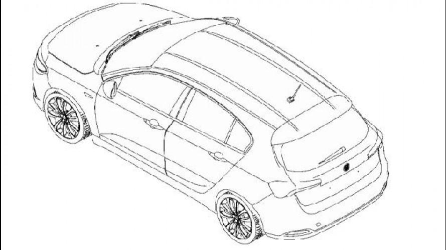 Fiat Tipo hatchback, sfugge l'immagine del brevetto del posteriore