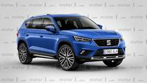 SEAT large SUV rendering
