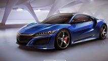 Acura NSX Type R render