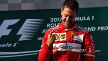 Podium- winner Sebastian Vettel, Ferrari