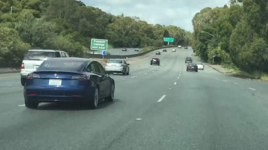 Blue Tesla Model 3 Returns In Spy Video