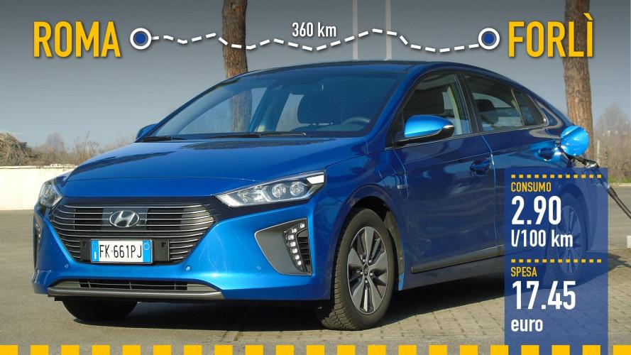 Hyundai Ioniq Plug-in, la prova dei consumi reali