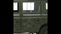 La Land Rover dipinta da Keith Haring