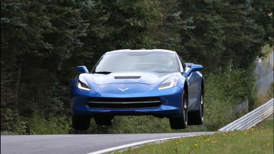 La Corvette Stingray in prova al Nurburgring