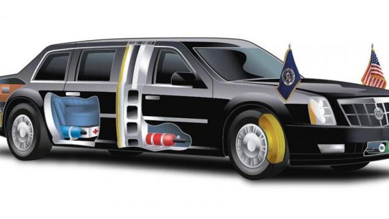 Obama Presidential Cadillac limousine 21.10.2013