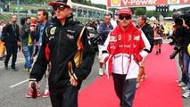 Kimi Raikkonen and Fernando Alonso 25.08.2013 Belgian Grand Prix