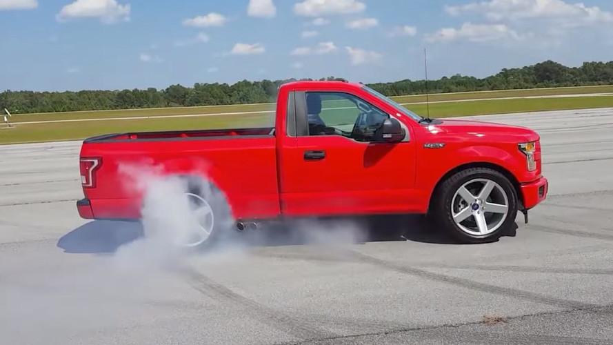 Watch The Dealer-Built Ford F-150 Lightning Do A Sweet Burnout