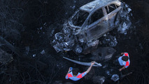 Hyundai i20 WRC burns to a crisp during Rally Portugal