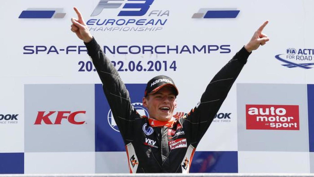 Max Verstappen F3 win at Spa-Francochamps 2014
