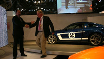 Saleen CEO Paul Wilbur and racing legend Dan Gurney