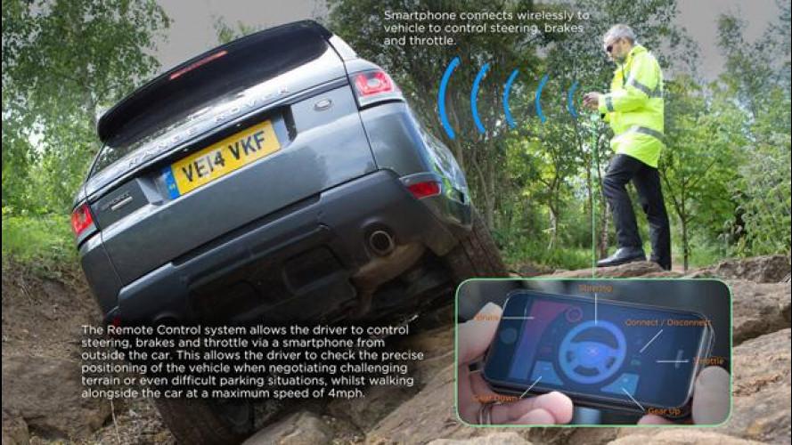 Ora la Range Rover Sport si guida... con lo smartphone