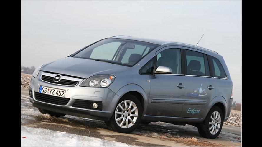 Opel Zafira 1.6 CNG EcoFlex: Einmal ordentlich Gas geben