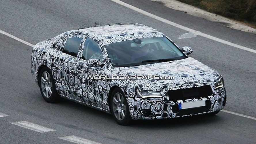 2011 Audi A8 Prototype Already Shedding Some Camouflage - Spied Hot Weather Testing