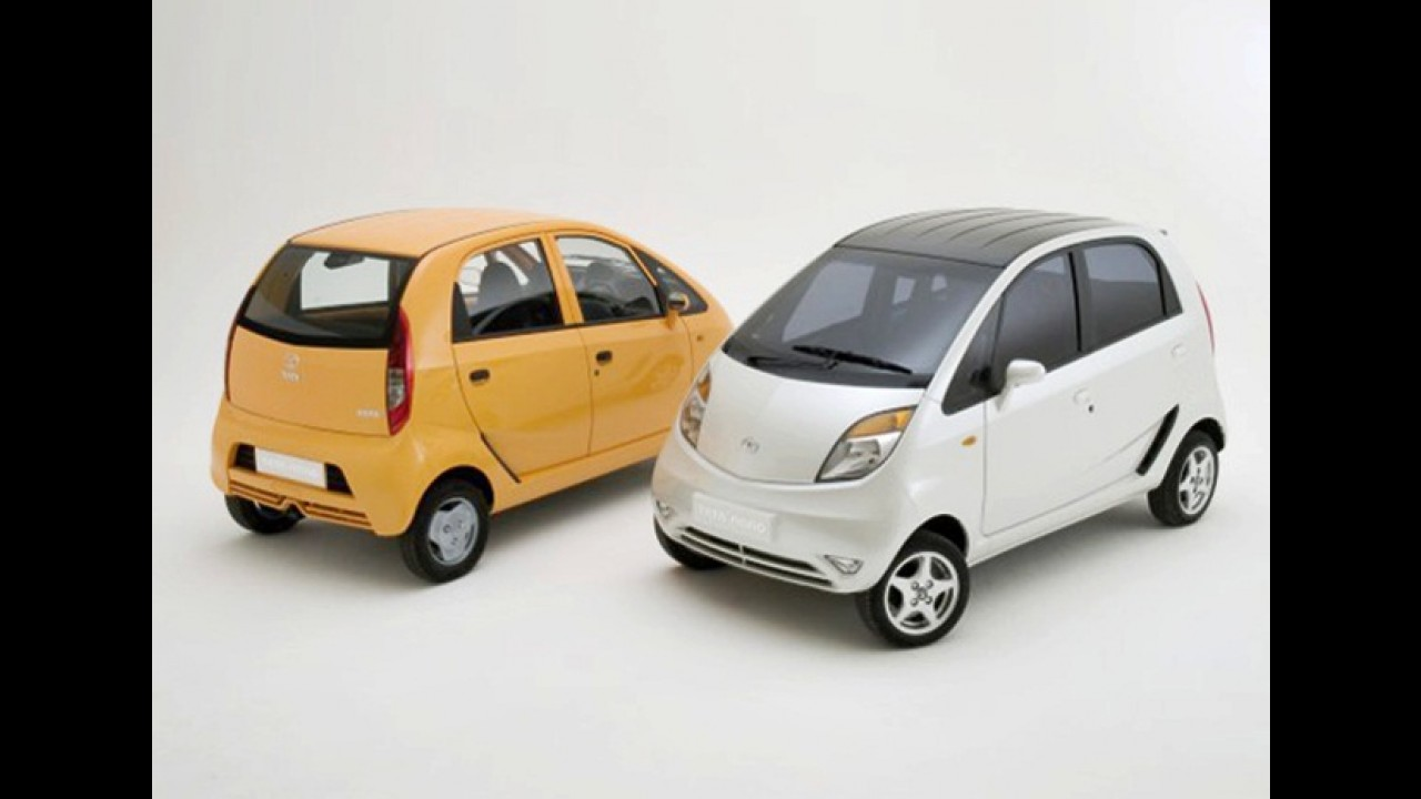 Tata Nano 2012 apresenta novidades e está mais econômico
