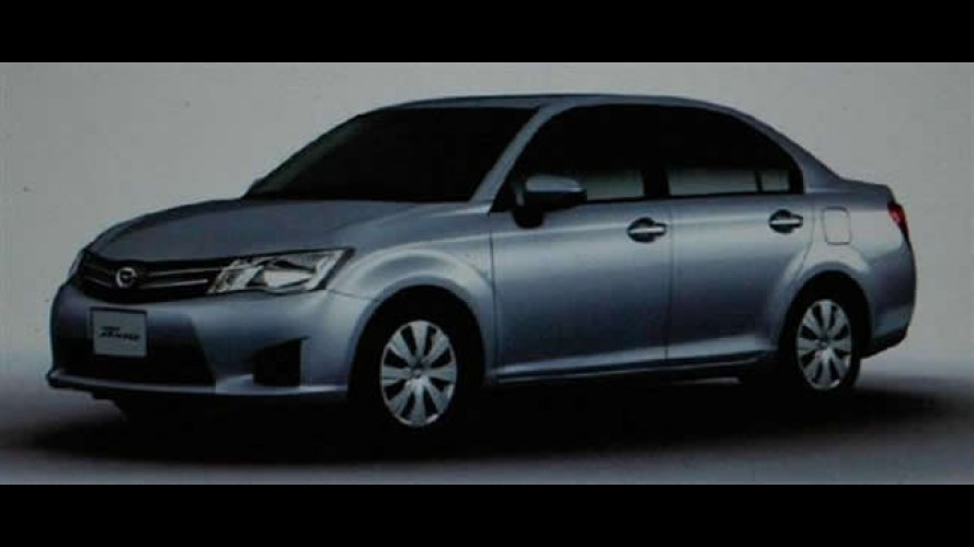 Vazam imagens da nova geração do Toyota Corolla Axio no Japão
