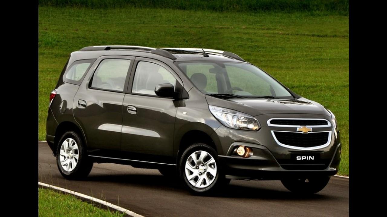 Chevrolet passará a oferecer minivan Spin também em versão de entrada LS