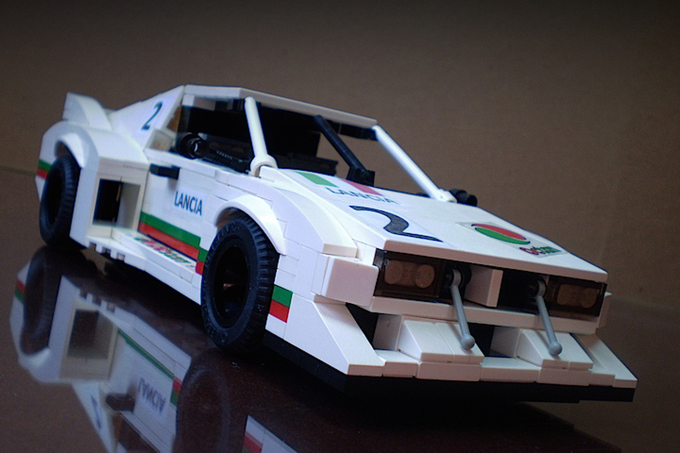 LEGO Lancia Montecarlo Racecar is Boxy Perfection