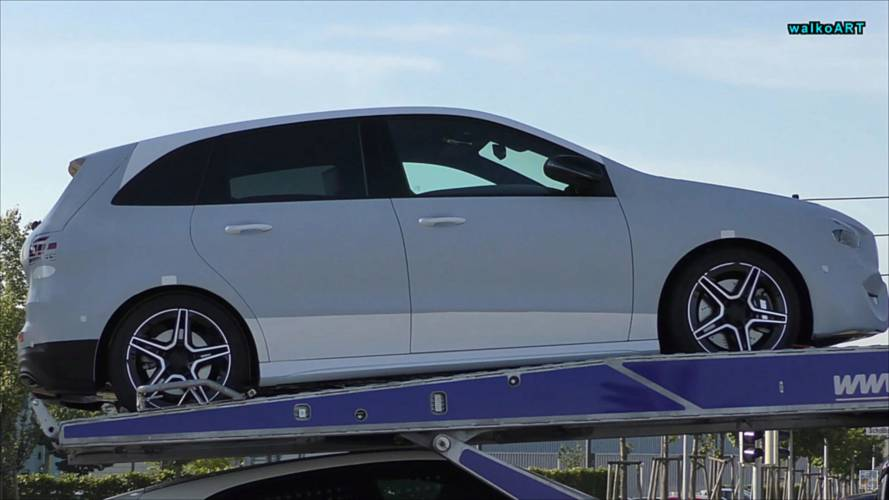 2019 Mercedes B-Class Spotted On A Trailer With Very Little Camo